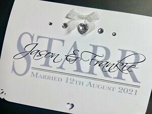 Handmade Personalised Wedding 'Surname' Card
