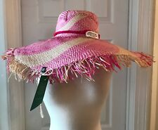 NANNACAY FOR J.CREW TULULU HAT PINK NATURAL G8383