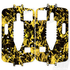 Traxxas T-Maxx New Era Big Block Chassis Plate Protector Kit - Flames Yellow