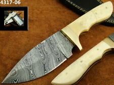 ALISTAR SUPERB HANDMADE DAMASCUS STEEL SKINNER/HUNTING KNIFE W/ SHEATH (4317-6