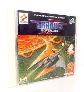 GRADIUS II Gofer No Yabou Nec PC Engine Super Cd-Rom Jap Japan