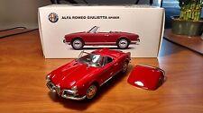 1957 Alfa Romeo Giulietta Spider Red by AUTOart Millenium - 1:18 Diecast Model