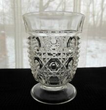 Federal Indiana Glass Clear Windsor 8 ounce Footed Tumbler