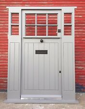 Traditional Wooden Hardwood Cottage Style Front Door with Side Panels! Bespoke!