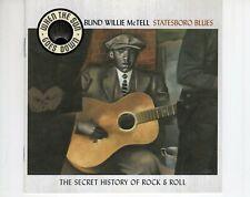 CD BLIND WILLIE McTELLstatesboro bluesEX  (B4334)