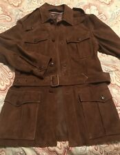 Polo Ralph Lauren Leather Suede Belted Safari Men's Jacket Coat Size Small