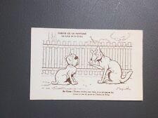 Carte postale Benjamin Rabier. Les Fables De La Fontaine. Le loup et le chien