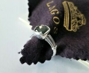 Lagos - Sterling Silver Grey Quartz Ring - size 7 - Mint Condition! $325