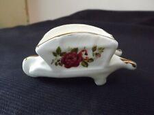 Vtg Bone China Miniature Cart rose flowers Gold Rimmed England Crown