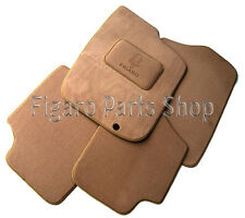 Nissan Figaro - Luxury Custom Car Mat Set with Emblem - Beige