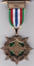 Irish Brigade Civil War Medal with Chest Ribbon and Lapel Pin
