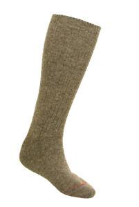 Wool Socks NEW Military Surplus Khaki Swedish Wool Blend Warm Size 11 Pair x1
