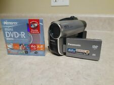 Panasonic Vdr-D50P Dvd Video Camera W/ Mini Dvd-R / Tested / Ships Free!