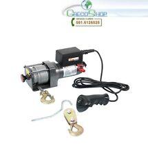 Verricello/Argano elettrico 12V 2500 lbs con telecomando Ribitech - PE12V/2500