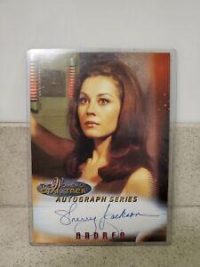 "2000 Women of Star Trek  5 x 7 Oversized Autograph  SHERRY JACKSON  As ""Andrea"""