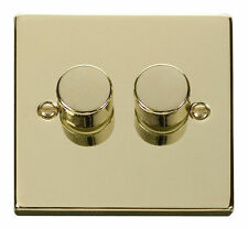 Polished Brass 2-Gang Electrical Home