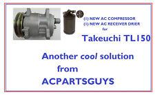 Sanden Sd5h09 Ac Compressor For Takeuchi Tl150 Loader 0881464100 With Drier