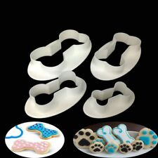 4pcs Dog Bone Cookie Cutter Biscuit Fondant Pastry Baking Cake Mold Pet Lovely