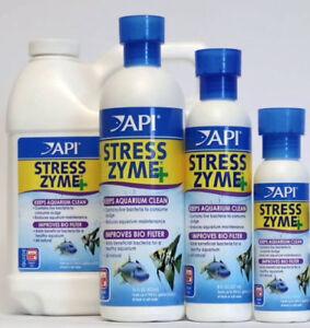 API Stress Zyme Filter Booster 118ml 237ml 473ml Live Bacteria Starter