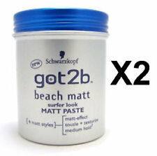 2 X Schwarzkopf got2b Spiaggia Opaco Incollare-ogni 100ml = 200ml