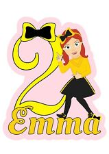 The Wiggles Emma PERSONALISED Cake Topper.  Lolly Loot Bag Party Supplies Banner