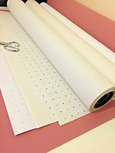 Pattern Cutting Paper-Black & Blue Spot / Dot & Cross & Plain Tracing-& Drafting