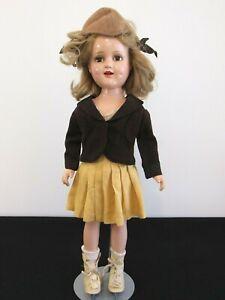 """Vintage 18"""" Compo SONJA HENIE Doll w/ Skates"""
