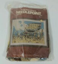 VTG 1976 Columbia Minerva 2444 Carriage Needlepoint Kit Counted Cross Stitch
