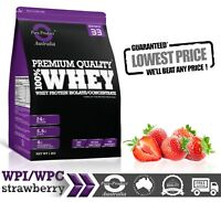 5KG -  WHEY PROTEIN ISOLATE / CONCENTRATE - STRAWBERRY   -  WPI WPC POWDER