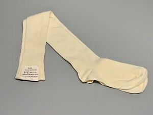 NEW. Royal Navy Man's Wool/Nylon Socks. Thin. Knee-Length. White. Size 3-4.
