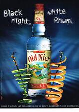 PUBLICITE ADVERTISING 054  2007   OLD NICK  rhum blanc des Antilles
