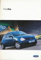 Ford Ka 9/04 Prospekt AT 2004 Autoprospekt Broschüre brochure brosjyre broschyr