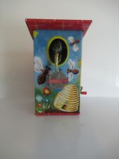 LBZ TINPLATE BIRD HOUSE COIN BANK MADE IN W. GERMANY