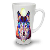 Wolf Geometric Fashion NEW White Tea Coffee Latte Mug 12 17 oz | Wellcoda