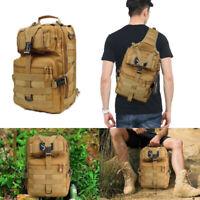 Military Tactical Hiking Backpack Army Molle Bag Pack Sling Rucksack Waterproof