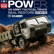 2.4GHZ RC Military Truck Army 1:16 6WD Tracked Wheels Crawler Off-Road Car RTR..
