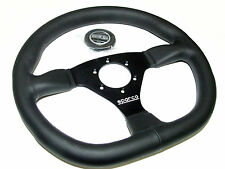 Sparco Steering Wheel - L360 Ring (330mm/Flat/Flat Bottom/Leather)