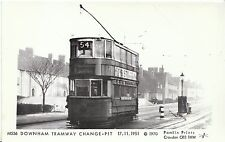 Tram Transport Postcard - Downham Tramway - Change-Pit - 17.11.1951 -  V779