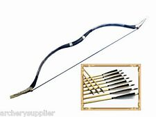45# pound Snakeskin Mongolian Longbow and Arrows Traditional Archery Horsebow