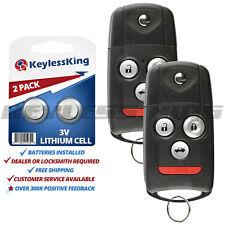 2 Keyless Entry Flip Remote for Acura TL TSX ZDX Car Key Fob MLBHLIK-1T