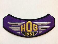 Unused 1987 UnNotched HOG Harley Davidson Owners Group Patch Badge Vintage
