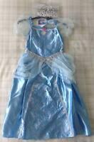 Disney Princess Cinderella Costume/Outfit/Fancy Dress Up Inc. Tiara ~ Girls 5-6