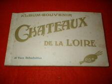 Vintage 1900's French Postcard Booklet PARIS Les CHATEAUX DE LA LOIRE