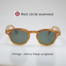Retro Vintage polarized sunglasses 1960s eyeglasses mens Blonde G15 green lens