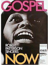 ROBERT PATTERSON SINGERS GOSPEL 1972 German A1 Concert poster GUNTHER KIESER