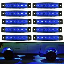 10x Blue LED Rock Lights For Offroad Jeep Truck ATV UTV Underbody Lighting Kit D