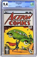 S201. ACTION COMICS #1 DC CGC 9.4 NM (1988) Anniversary, Origin/1st App SUPERMAN