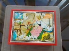 VINTAGE HERMAN EICHHORN WOODEN PUZZLE BLOCK FAIRYTALE MADE IN WEST GERMANY