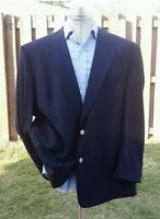 BURBERRYS' 38R Prorsum Blue Mens Blazer Sport Coat Gold Button Knight Jacket