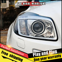For Buick Regal Headlights assembly Bi-Xenon Lens Double Beam HID KIT 2011-2013